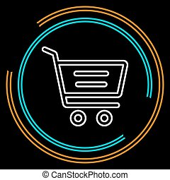 Simple Shopping Cart Thin Line Vector Icon