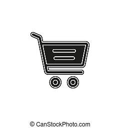 Simple Shopping Cart Vector Icon