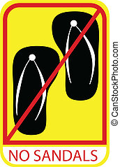 Sign - No Sandal