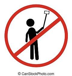 simple sign Sign No Selfie