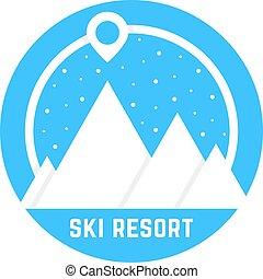 simple ski resort logo
