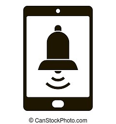simple, smartphone, icono, ringtone, estilo