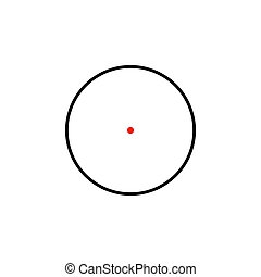 Simple sniper crosshairs with red aim dot.