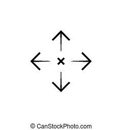 Simple sniper rifle aim target. AR crosshairs. Gun scope icon.