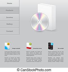Simple software selling website