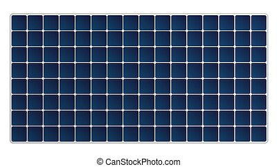 Simple Solar Panel Isolated On White