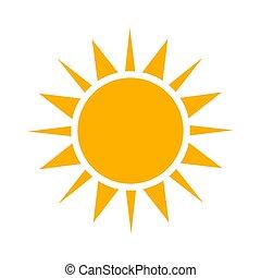 simple, soleil, icon.