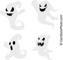 Simple Spooky Ghosts