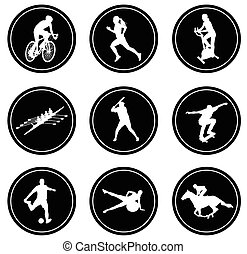 simple sport icons set