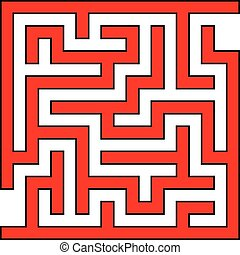 Simple Square Maze