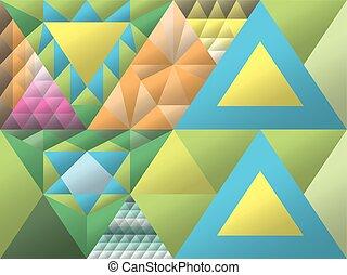stained glass window, triangulation, random figures