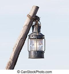 Simple street lamp-post