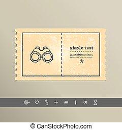 Simple style binoculars pixel icon. Vector Design