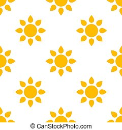 Simple Sun Seamless Pattern Background. Vector