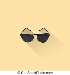 Simple Sunglasses Icon, Vector