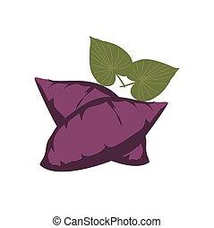 simple sweet potato vegetarian food icon and vector logo
