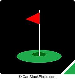 simple, symbole, golf