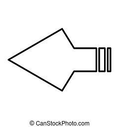 simple thin line arrowheads icon vector