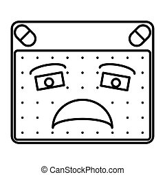 disappointed - simple thin line disappointed icon vector