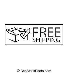 free shipping box symbol