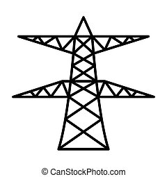 power pole - simple thin line power pole icon vector