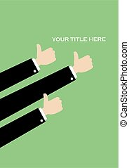 Simple Thumbs Up Vector Layout Design - Simple vector layout...