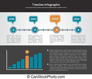 Simple Timeline Inforgraphic Design from 1990 to 2020 with...