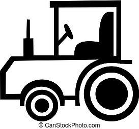 Simple tractor vector