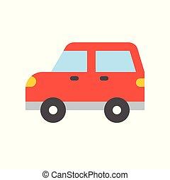 Simple transportation icon, flat design
