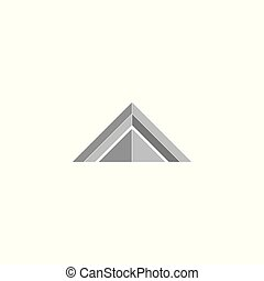 simple triangle 3d design logo vector
