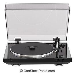 Simple Turntable Isolated on White Background