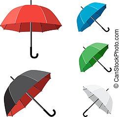 simple umbrella white background