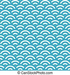 simple, vague bleue, seamless, modèle