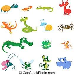 simple vector animals cartoon - amp