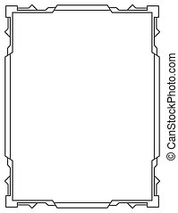 Simple vector black frame vertical