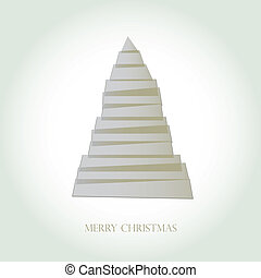 Simple vector christmas tree made