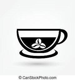 Simple vector coffee icon
