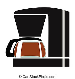 vector, color illustration of coffee maker