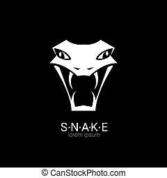 simple, vector, diseño, serpiente, logotipo, element.