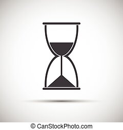 Simple vector hourglass icon