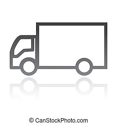 simple vector icon of a truck. transportation concept