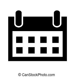 Simple Vector Icon Sign Date, element design for event announecement or invitation, Isolated on White