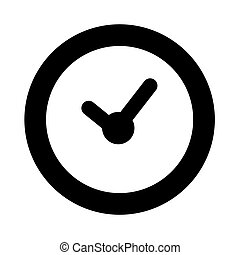 Simple Vector Icon Sign Time, element design for event announecement or invitation, Isolated on White