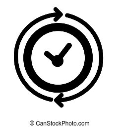 Simple Vector Icon Sign Time, Reguler Event, element design for event announecement or invitation, Isolated on White