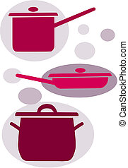 Simple vector icons - kitchen equipment