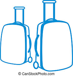 Simple vector illustration of a baggage bag