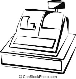 Simple vector illustration of a cash register