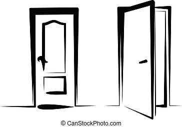 door icons - Simple vector illustration of a door icons