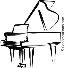 Simple vector illustration of a grand piano