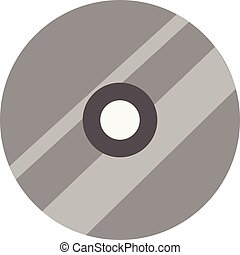 Simple vector illustration of a grey cd on white background